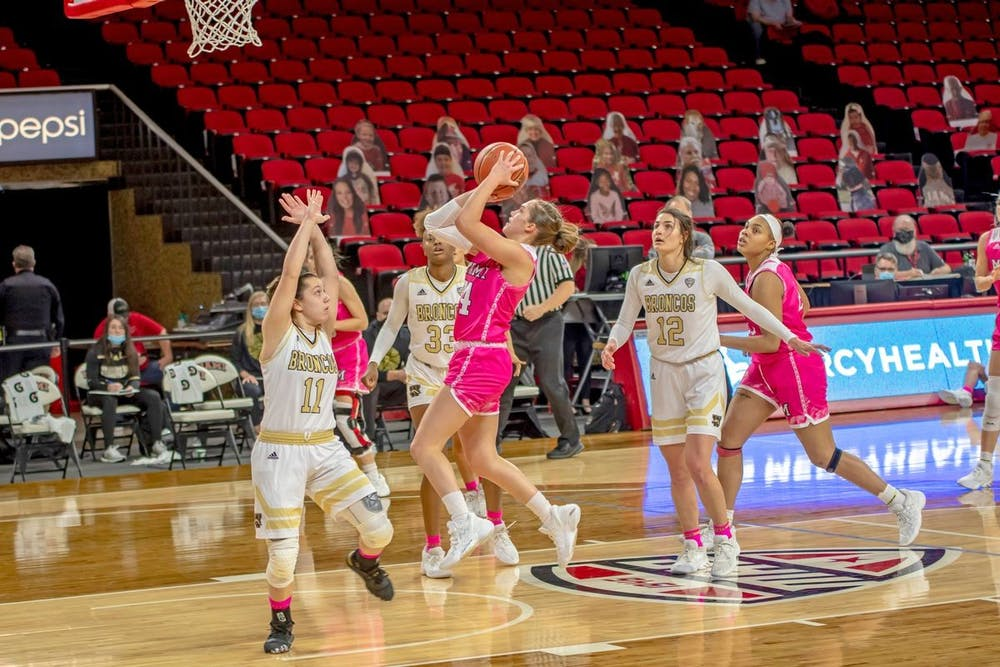 <p>Sophomore guard Peyton Scott scored a career-high 39 points in Saturday&#x27;s loss to Ball State, tying former RedHawk Courtney Osborn&#x27;s record for most points in Millett Hall history.</p>