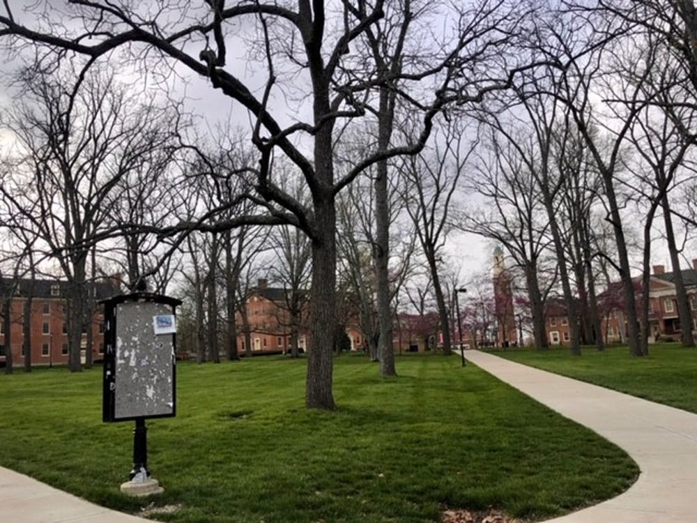 <p>Since students have left Oxford due to threats of the novel coronavirus, Miami University&#x27;s campus has been extremely quiet. </p>