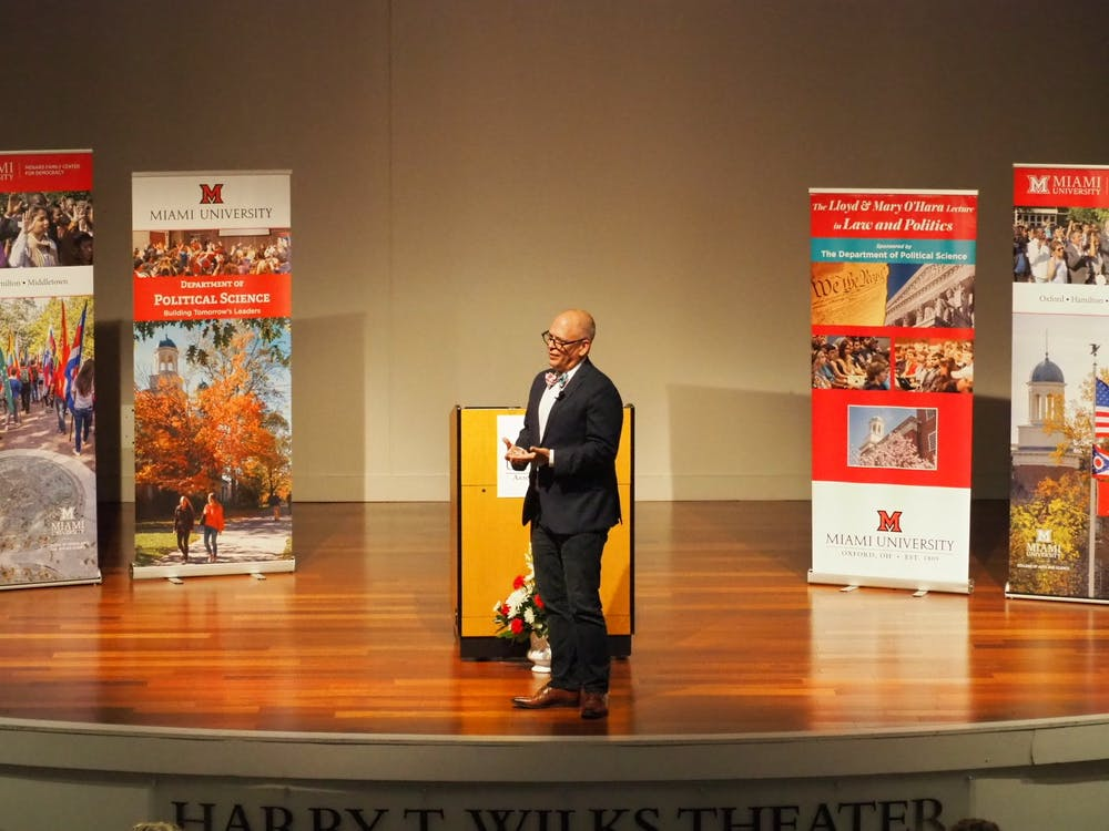 """""""Accidental activist"""" Jim Obergefell of the landmark Obergefell v. Hodges Supreme Court case spoke at Miami on Tuesday."""