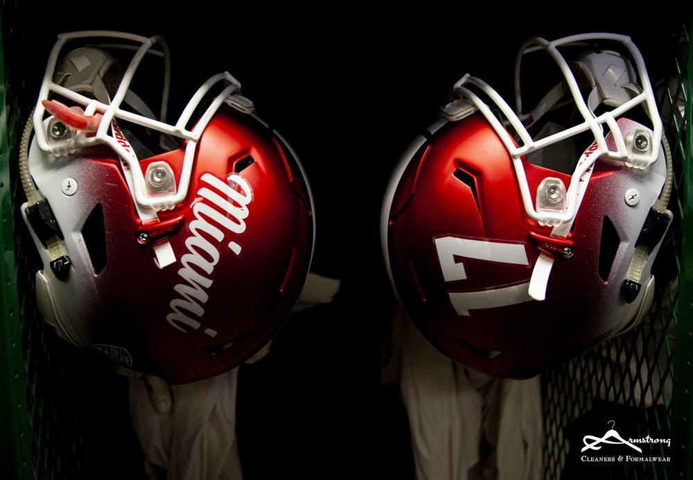 <p>The Miami RedHawks will be back in uniform on Nov. 4.</p>