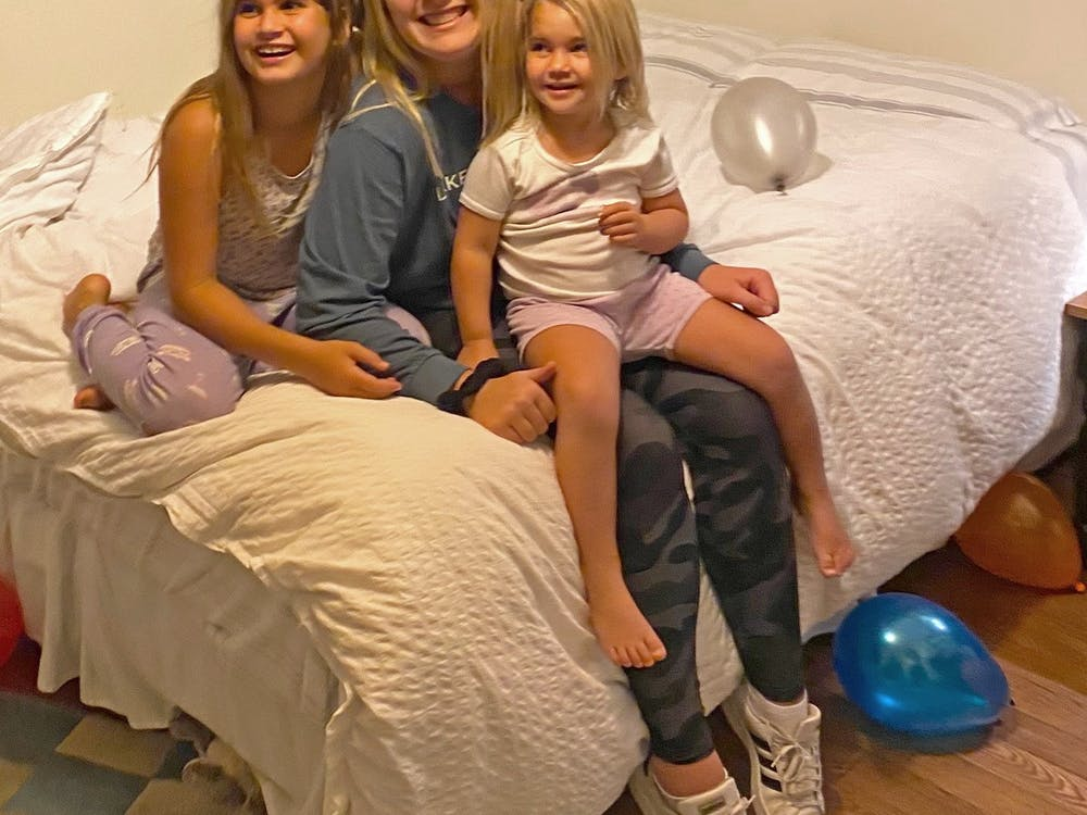 There isn't as much singing or flying, but Casey Keller is playing double duty as a nanny and being a full-time student