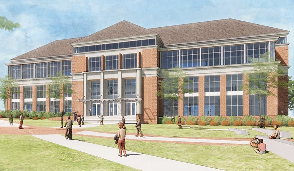 <p>The Richard M. McVey Data Science building will house statistics, emerging technology &amp; business and mathematics departments. <em>Photo courtesy of Miami University Advancement. </em></p>
