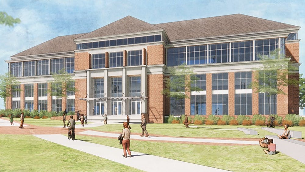 The Richard M. McVey Data Science building will house statistics, emerging technology & business and mathematics departments. Photo courtesy of Miami University Advancement.