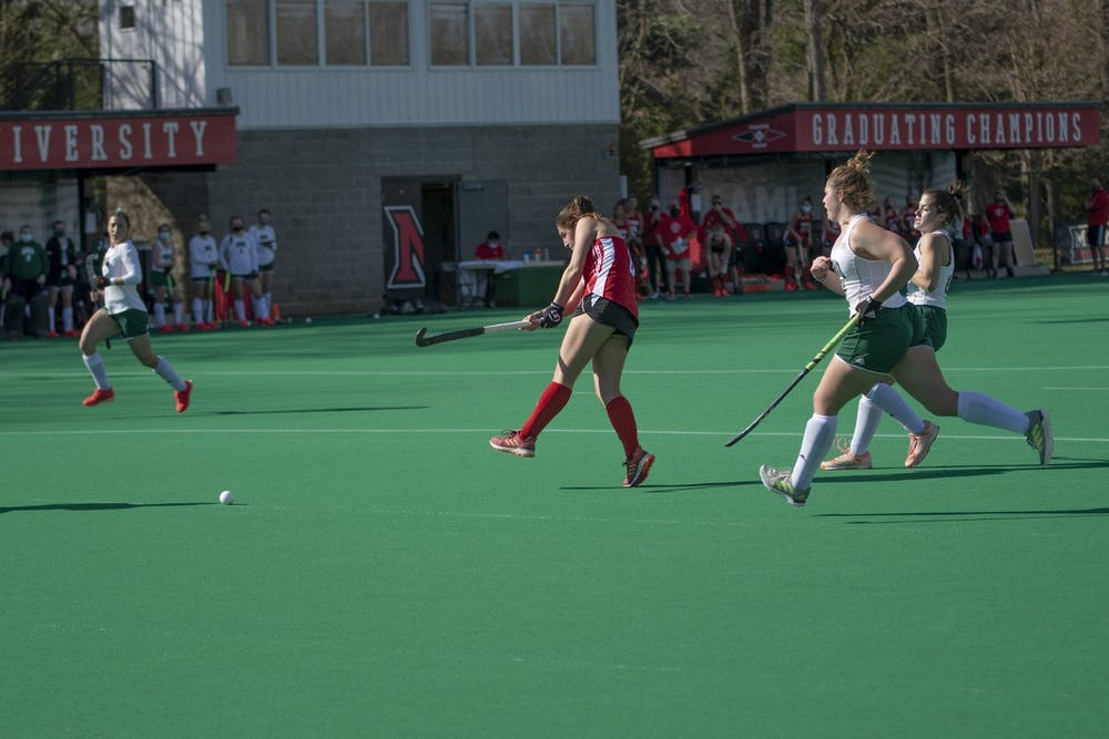 <p>Women&#x27;s field hockey was undefeated before losing to the No. 2 team in the nation.</p>