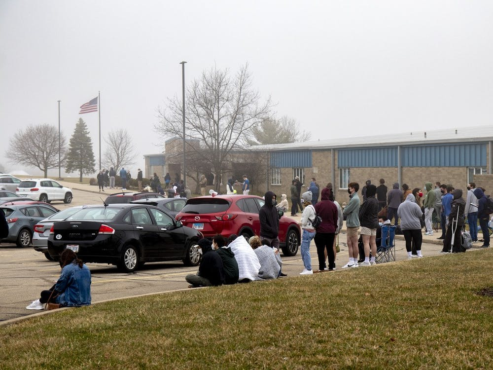 Though Ohioans aged 50 and older became eligible for vaccination, many still waited in line for hours in hopes of getting leftovers.