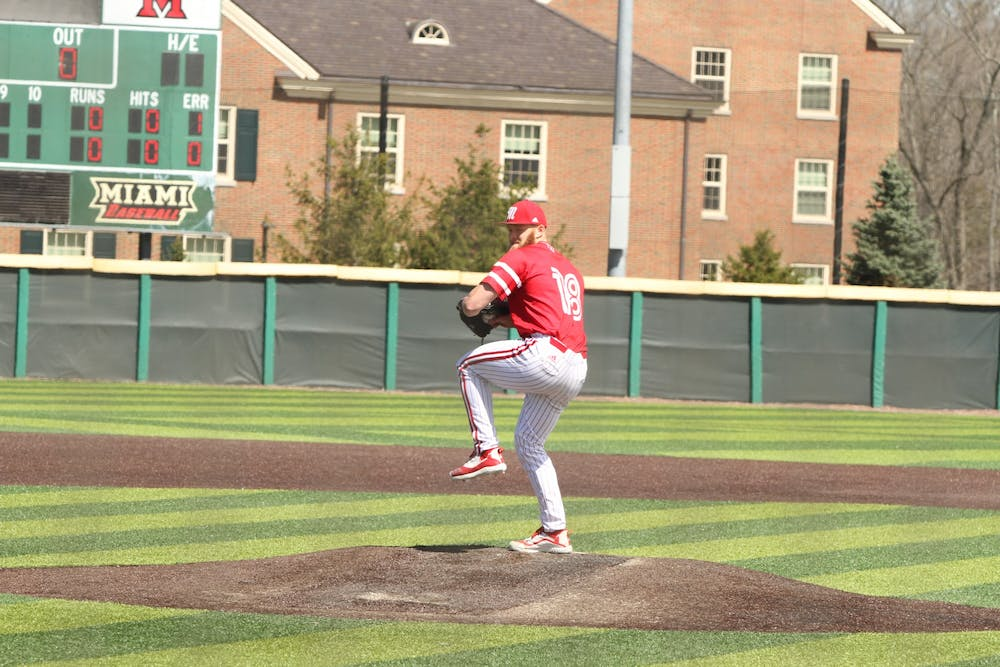 <p>Former Miami pitcher Sam Bachman will earn a signing bonus of $3,847,500 after inking his deal with the Los Angeles Angels, per reports. <em>Courtesy of Miami Athletics</em></p>