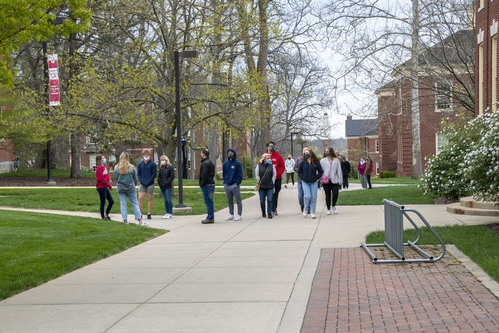 Tours for prospective students are still affected by COVID-19 restrictions. Groups are limited to 10 people.