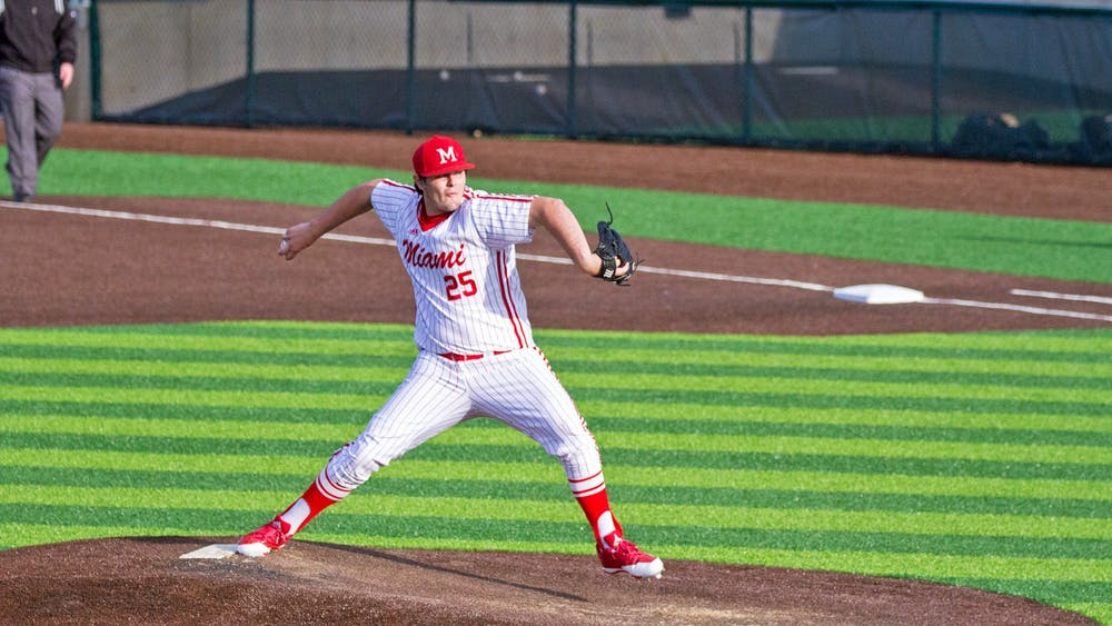 Redshirt junior Grant Hartwig pitched and started as a designated hitter before his 2018 injury. Now, after a conversation with his head coach, Danny Hayden, Hartwig is focused solely on pitching.