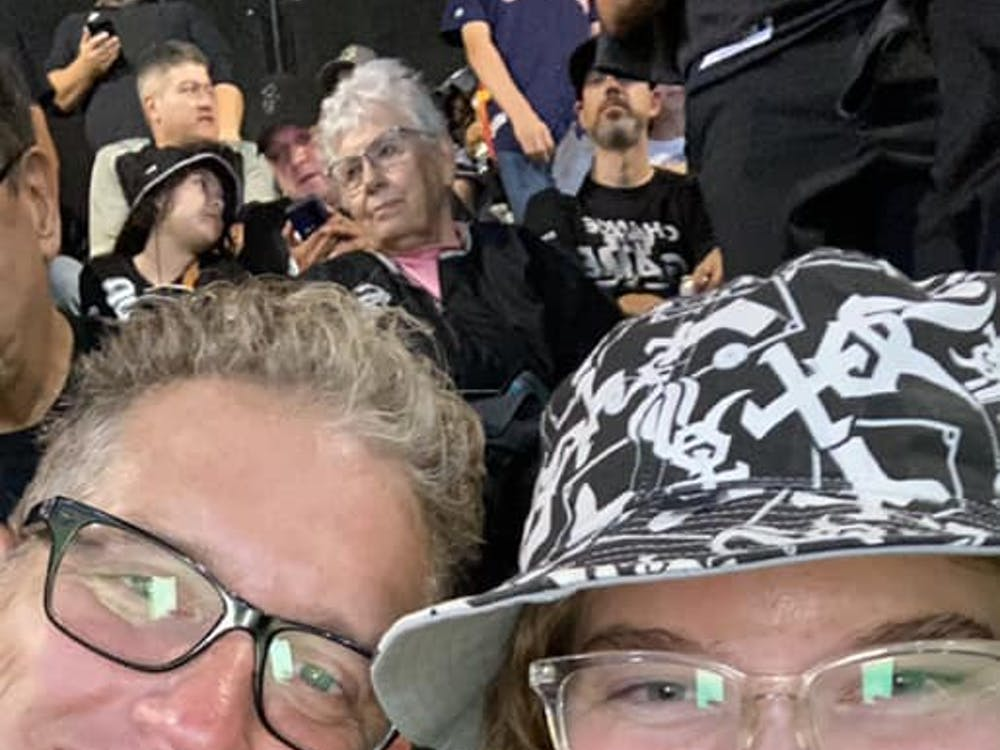Madeline attended the White Sox's first 2021 playoff game with her dad.