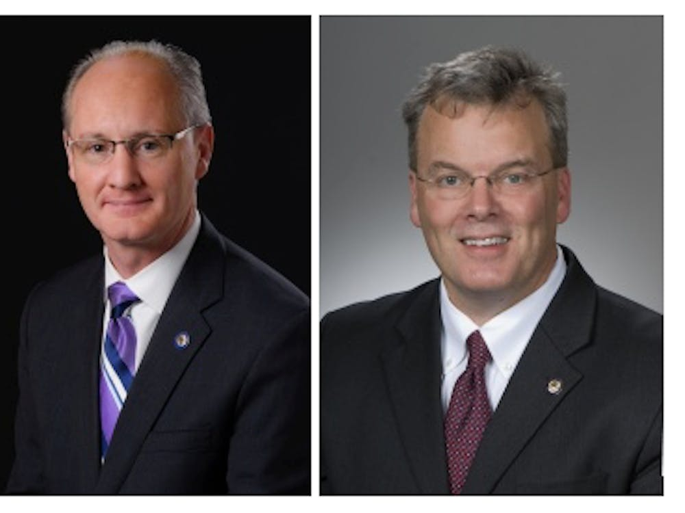 State Sen. Bill Beagle (left) and State Rep. Tim Derickson (right) are campaigning to fill John Boener's former position as U.S. Representative for Ohio's 8th Congressional Seat.