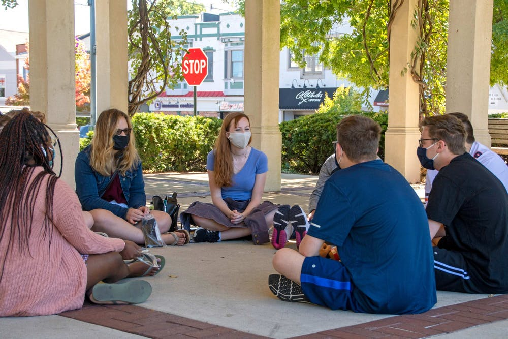<p>Essential workers in Oxford are nervous to confront non-mask wearers in fear of retalliation. </p>