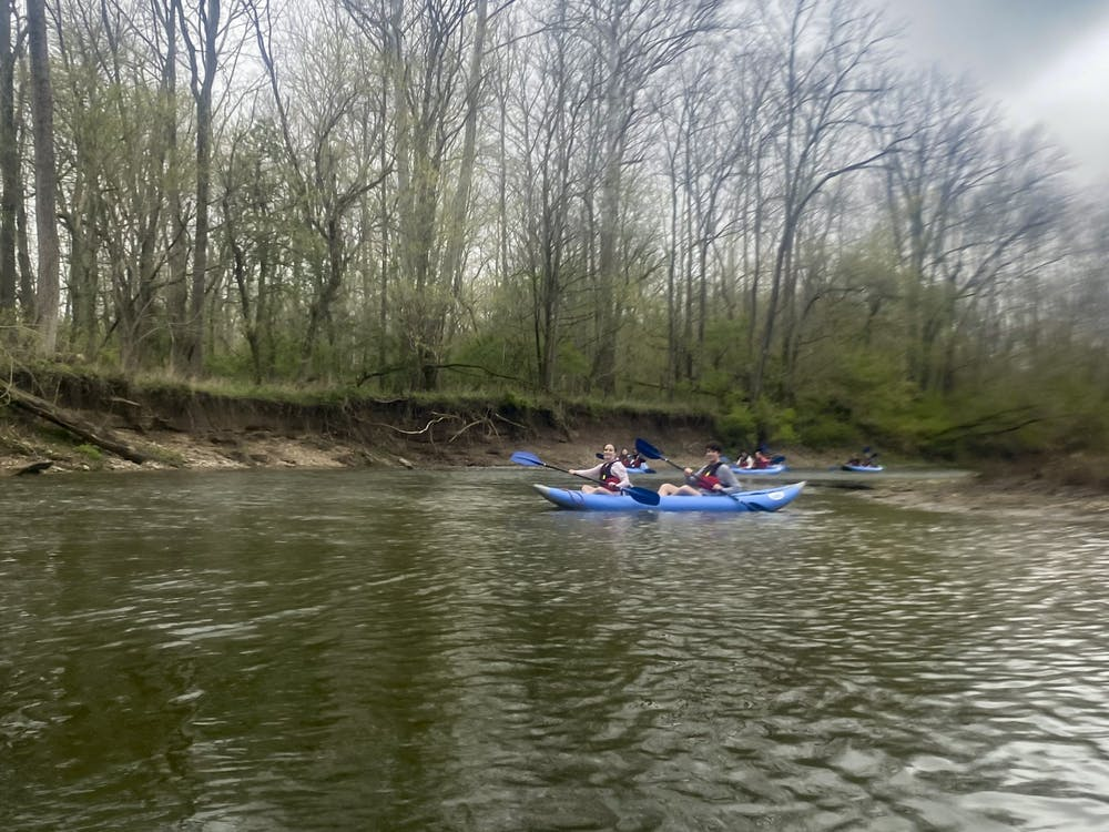 """The Outdoor Pursuits Center had students """"paddling and pedaling"""" on their most recent wellness day."""
