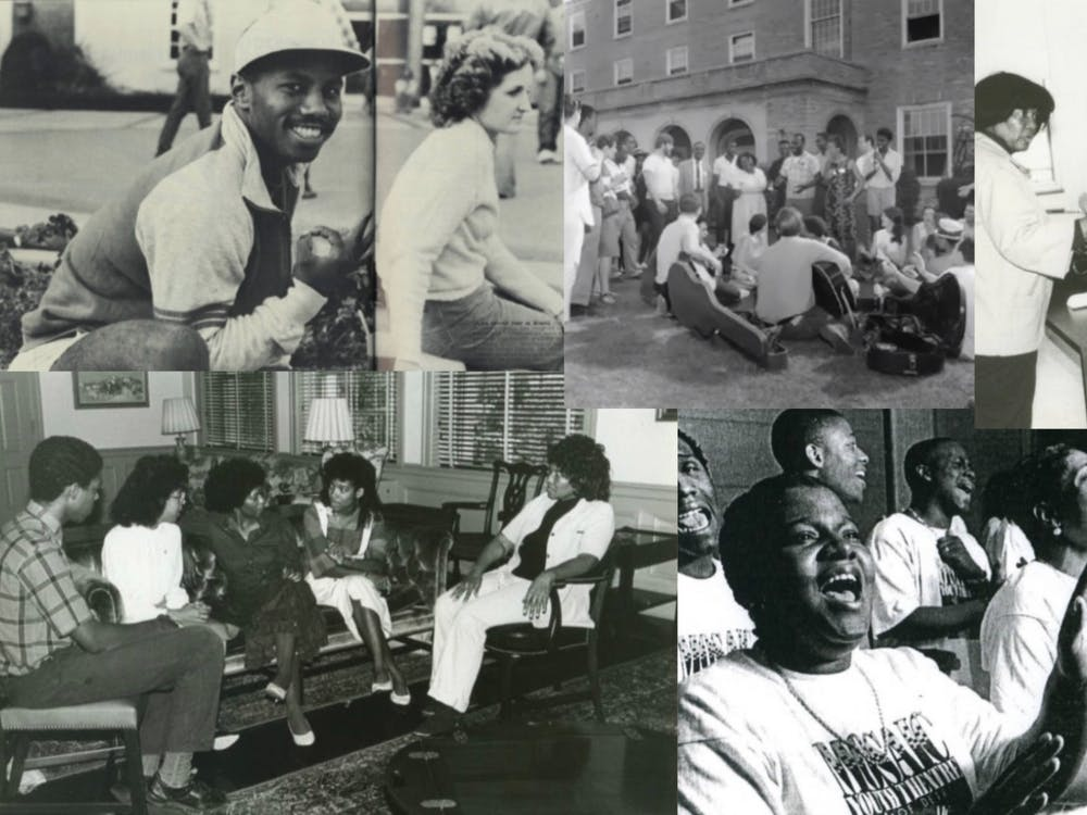 Photos in this graphic were contributed by the Miami University Archives.