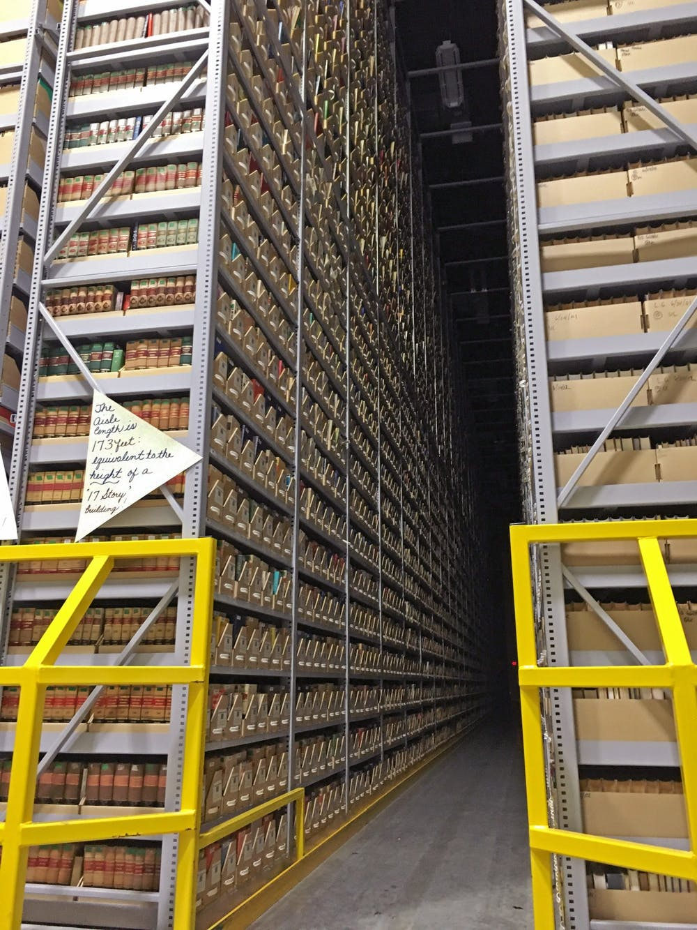 <p>Miami sends rare books to be housed in a depository for safe keeping until they are requested again for use. </p>