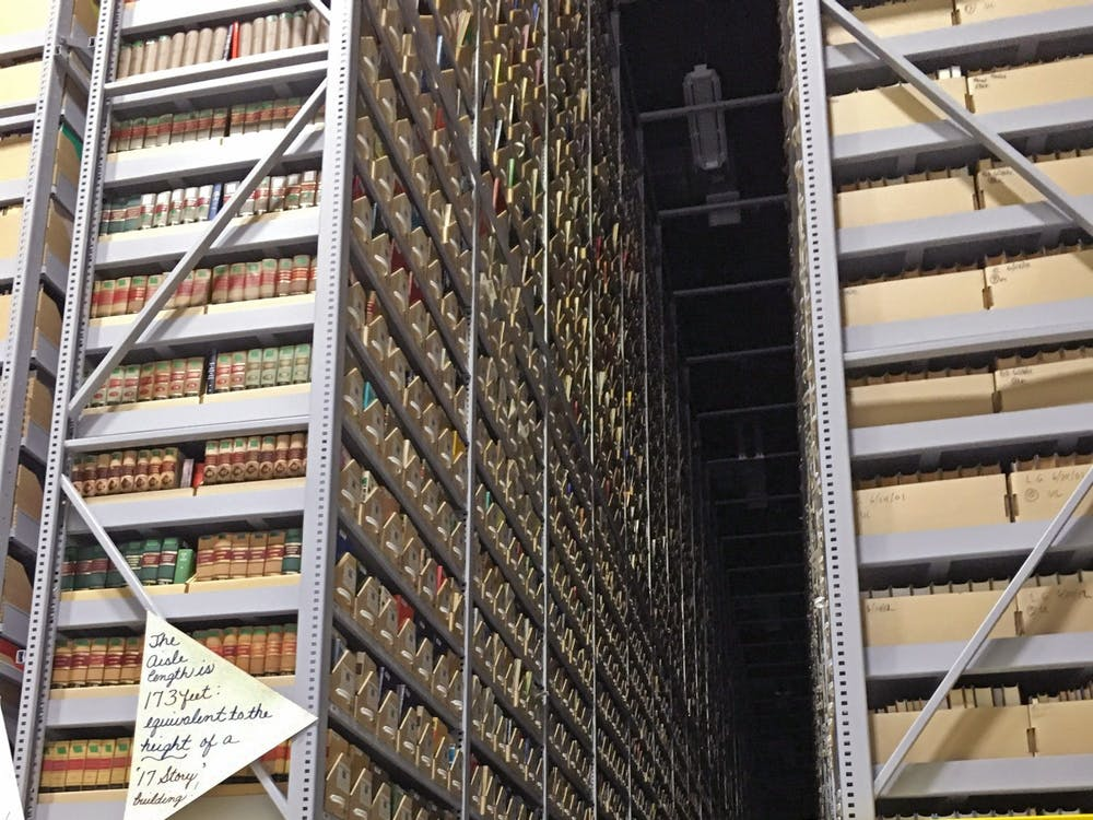 Miami sends rare books to be housed in a depository for safe keeping until they are requested again for use.