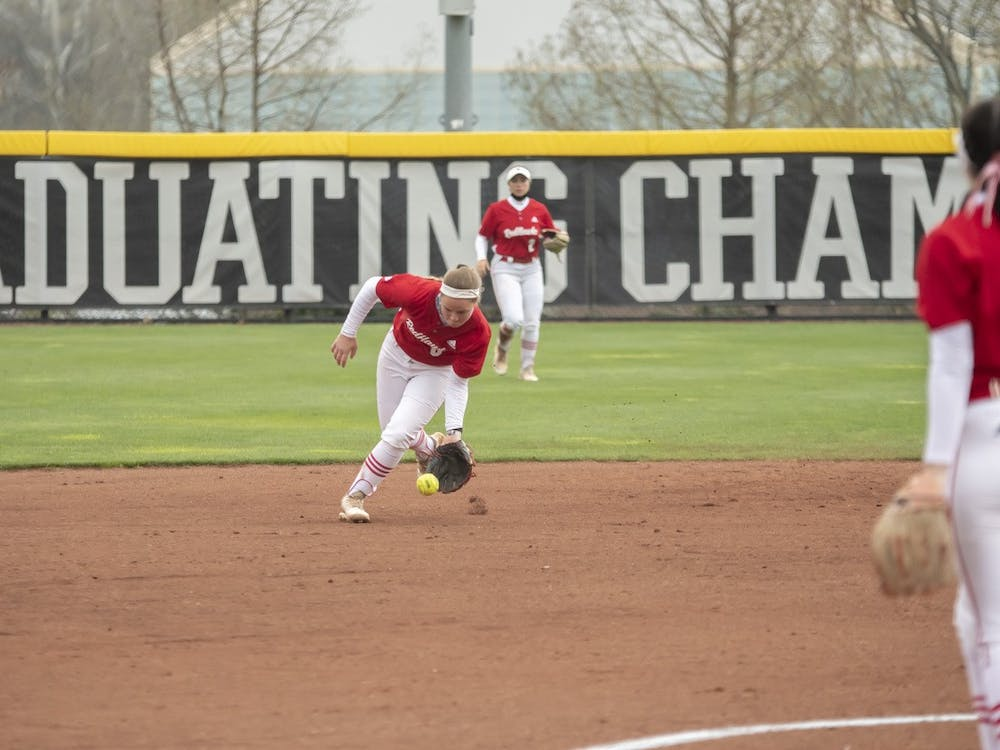 Junior shortstop Adriana Barlow scoops up a ground ball during last weekend's series vs Bowling Green.