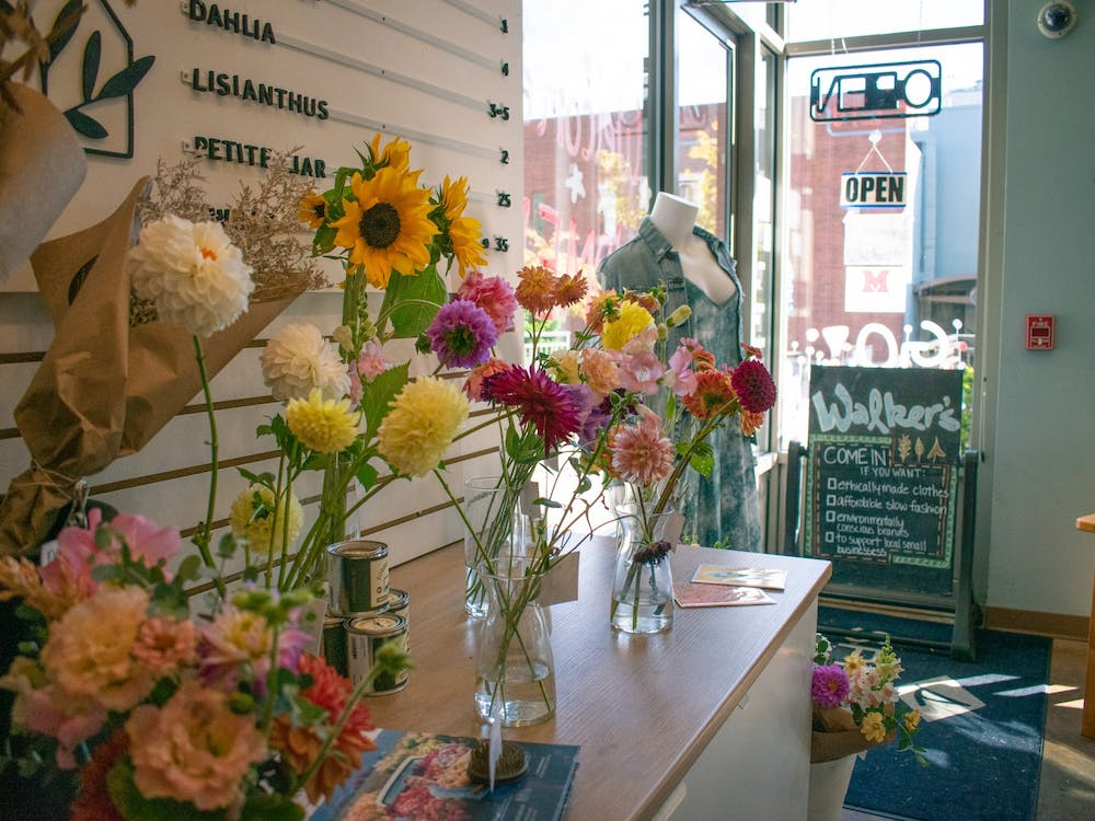 Walker's Footwear and Apparel have debuted a new, blooming addition to their store: a flower bar.
