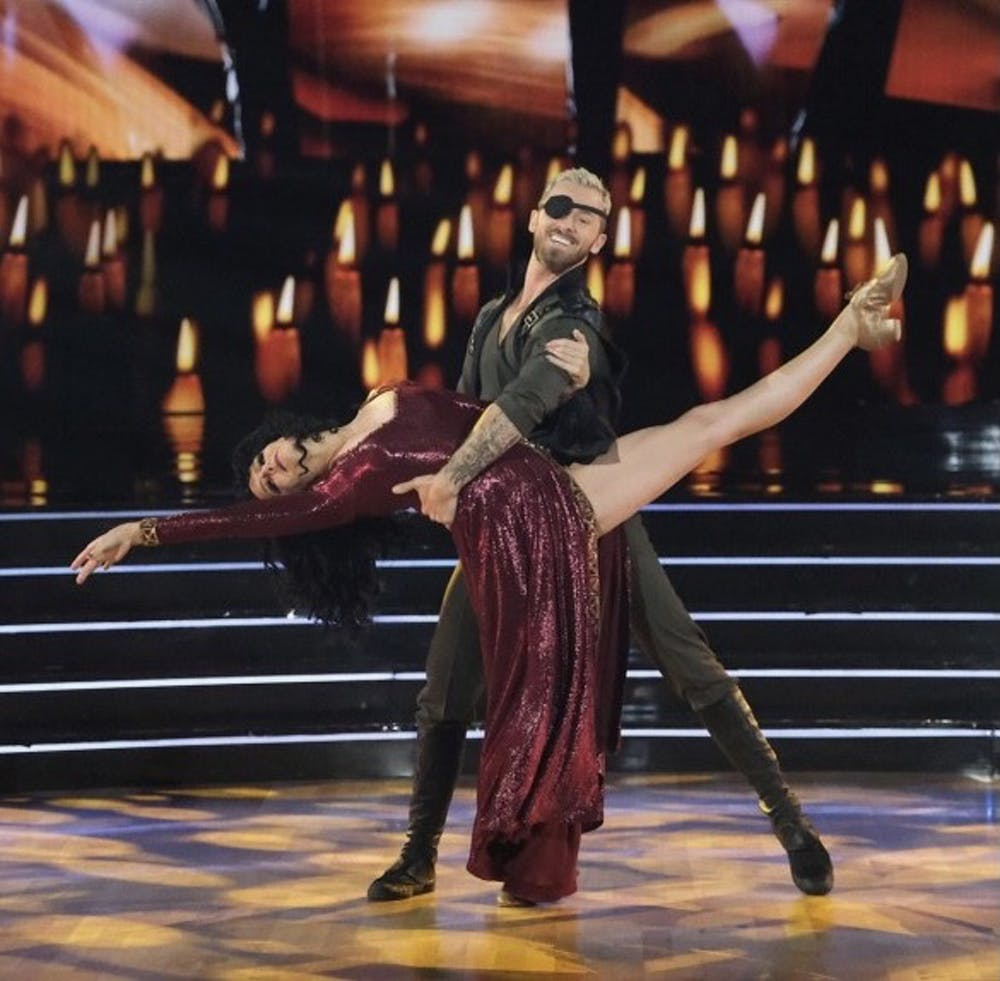 <p>Actress Melora Hardin, known most for her roles on &quot;Monk&quot; and &quot;Hannah Montana: The Movie&quot;, performs a &quot;Tangled&quot;-inspired jazz routine with her professional partner Artem Chigvintsev.</p>