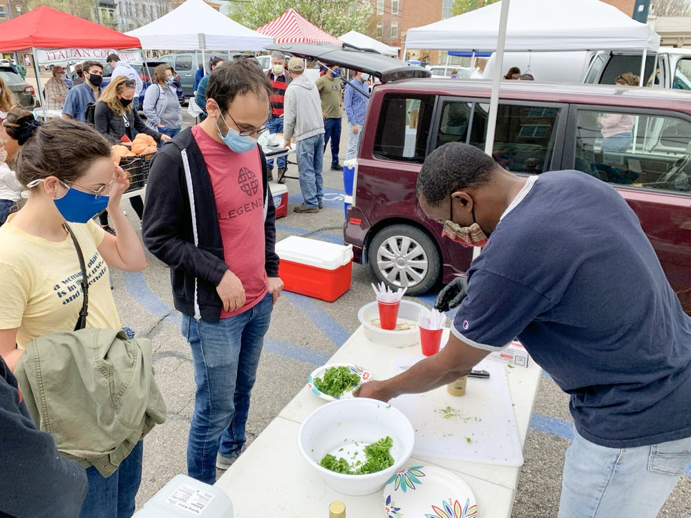 Oxford's weekly farmer's market brings fresh, locally grown food to the community.