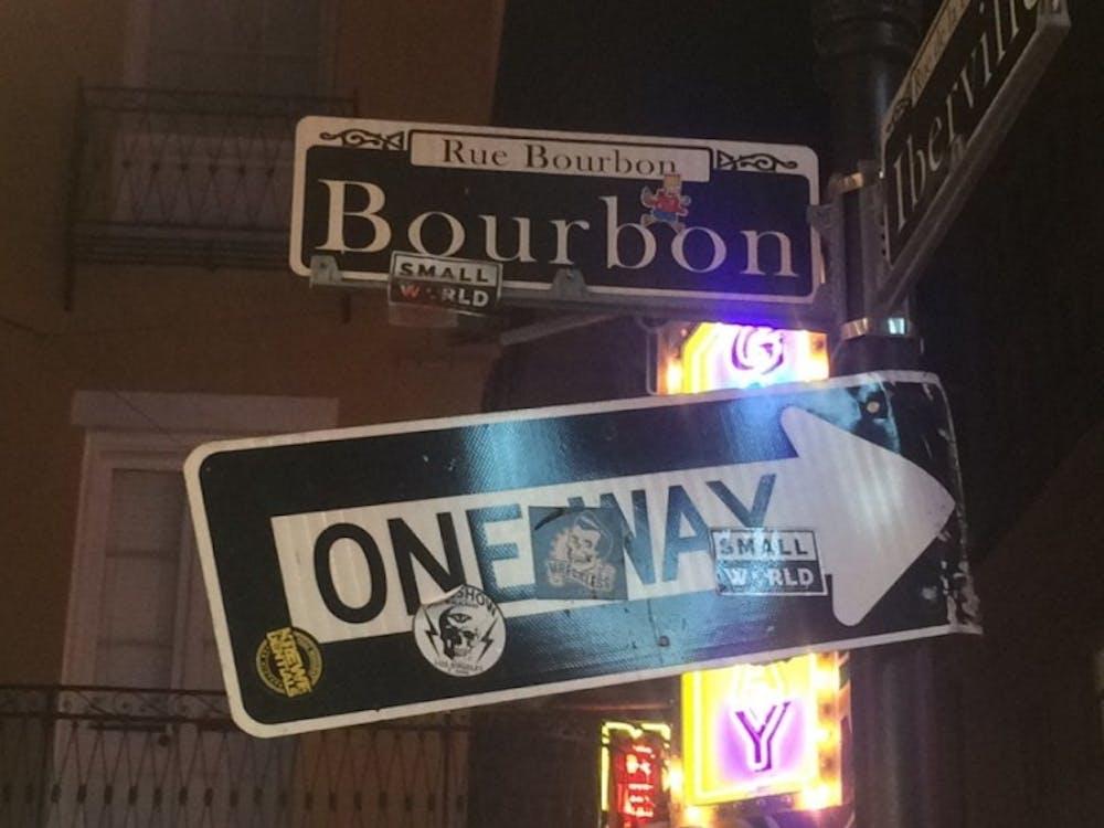 Bourbon Street in New Orleans, Louisiana. Photo by Angela Hatcher