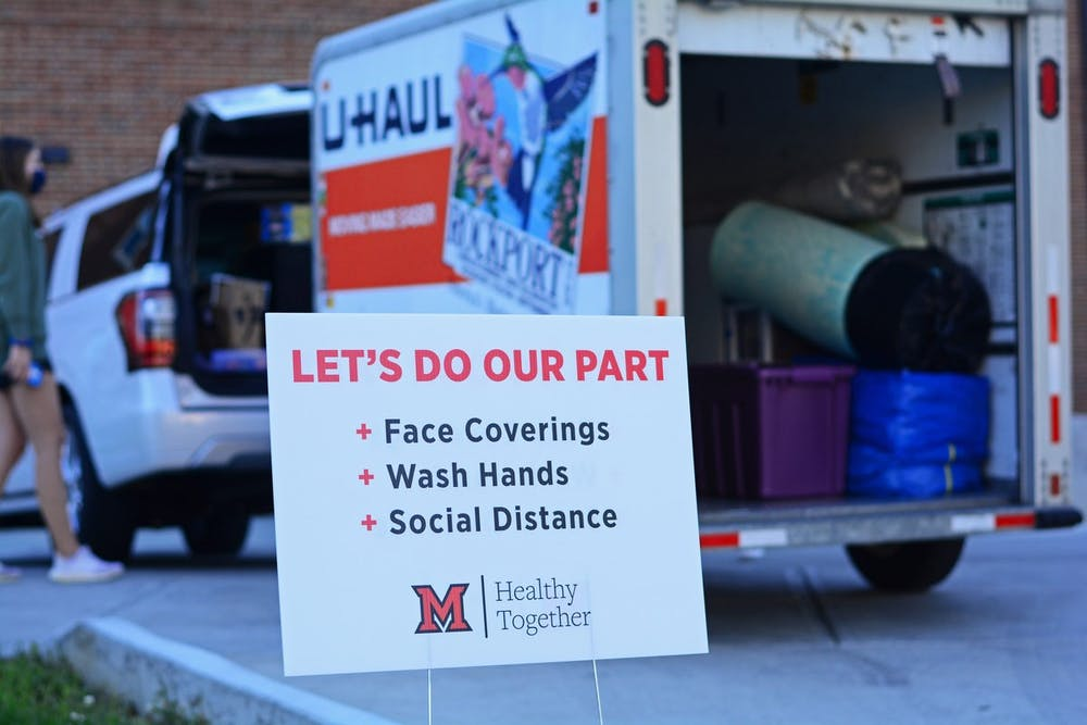 <p>FIrst-year Kylie Whitehead moved into her dorm after months of anticipation, but campus looks a lot different this semester.</p><p><br/><br/><br/></p>