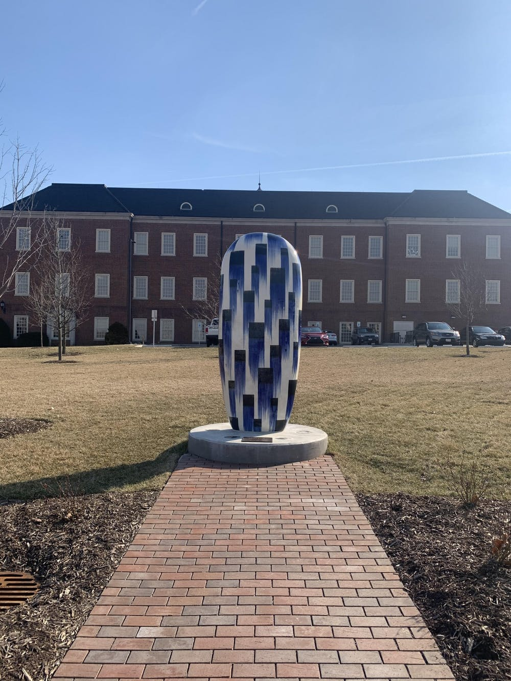 <p>A new statue, titled &quot;Capturing The Scent of Rain,&quot; was built on North Quad this year.</p>