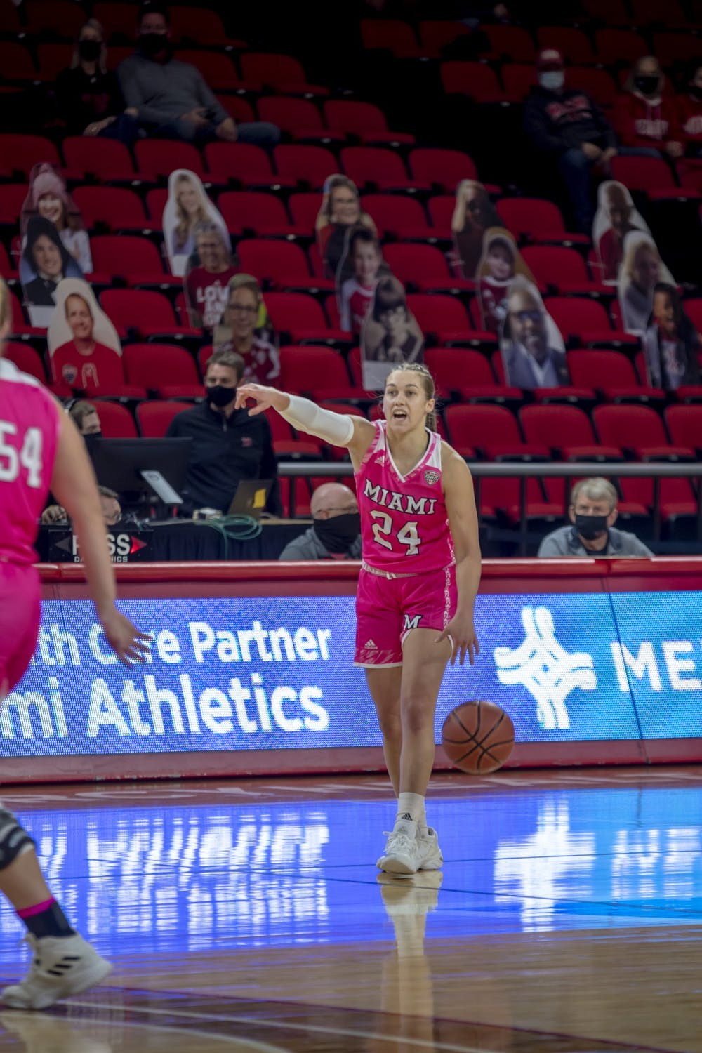 <p>Sophomore guard Peyton Scott scored a career-high 39 points in Saturday&#x27;s loss to Ball State, her fourth straight game with 30 or more points.</p>