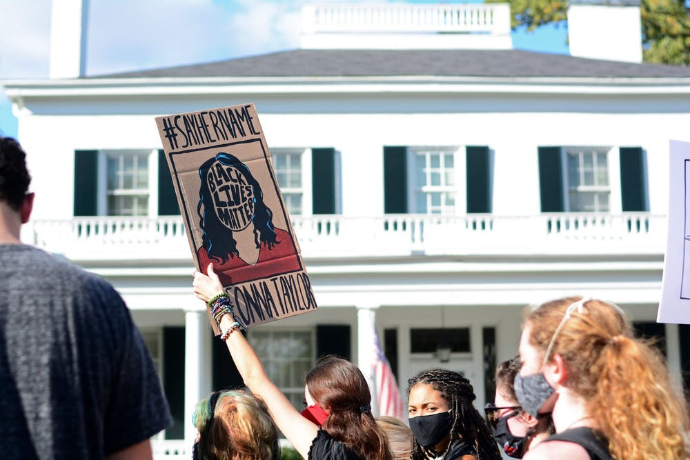 <p>More than 100 protestors marched through Oxford demanding actionable change from the university regarding the Black student experience at Miami. </p>