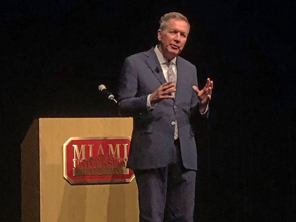 <p>Former Ohio governor John Kasich talked about the impact an ordinary citizen can have at his lecture on the Hamilton campus. </p>
