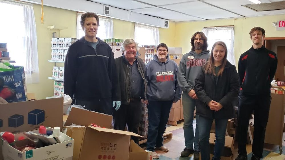 ShareFest volunteers picked up food and personal care items donated in the residence halls.