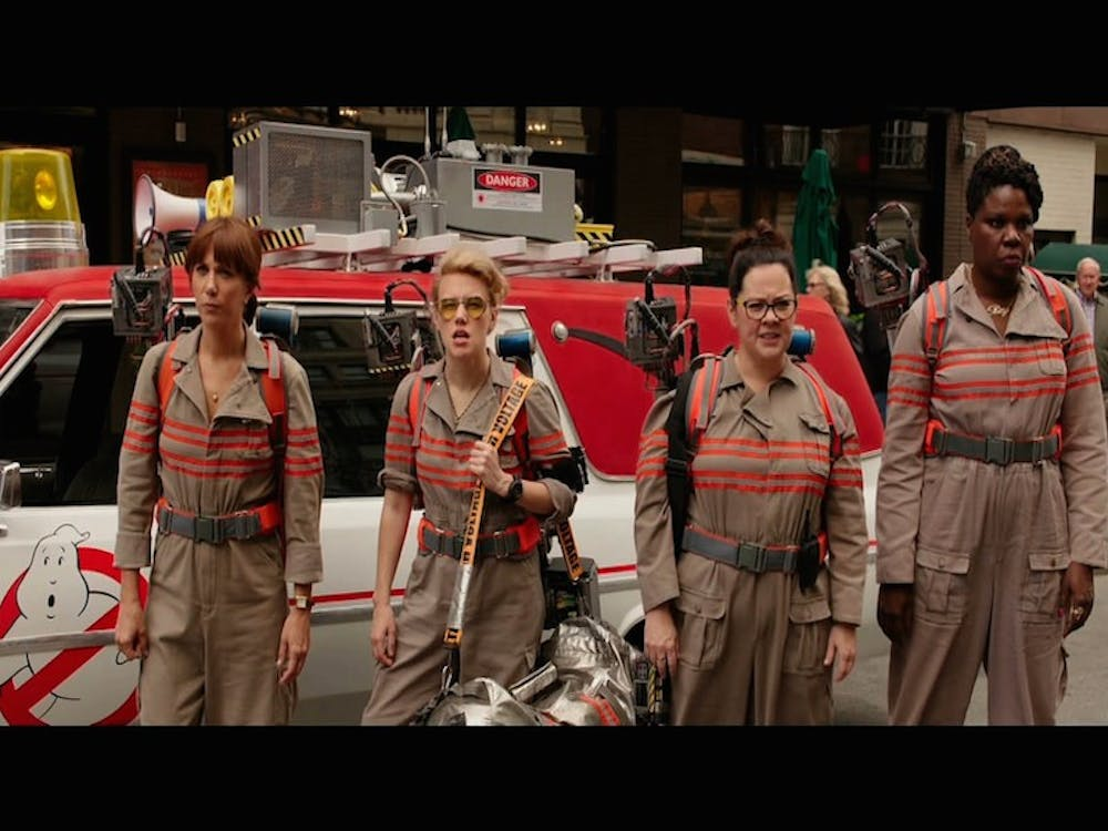 Kristen Wiig, Kate McKinnon, Melissa McCarthy and Leslie Jones in a still from 2016's 'Ghostbusters.'