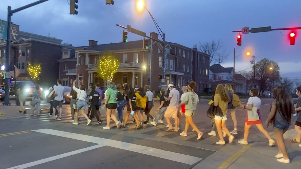 <p>FWORD and SASS organized a protest against sexual assault on April 7.</p>