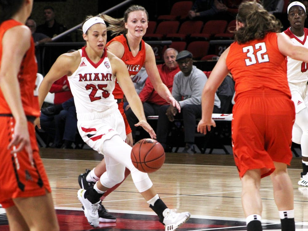 "Freshman Peyton Scott has impressed people around Miami's women's basketball program with her production and her possession of the ""it"" factor."