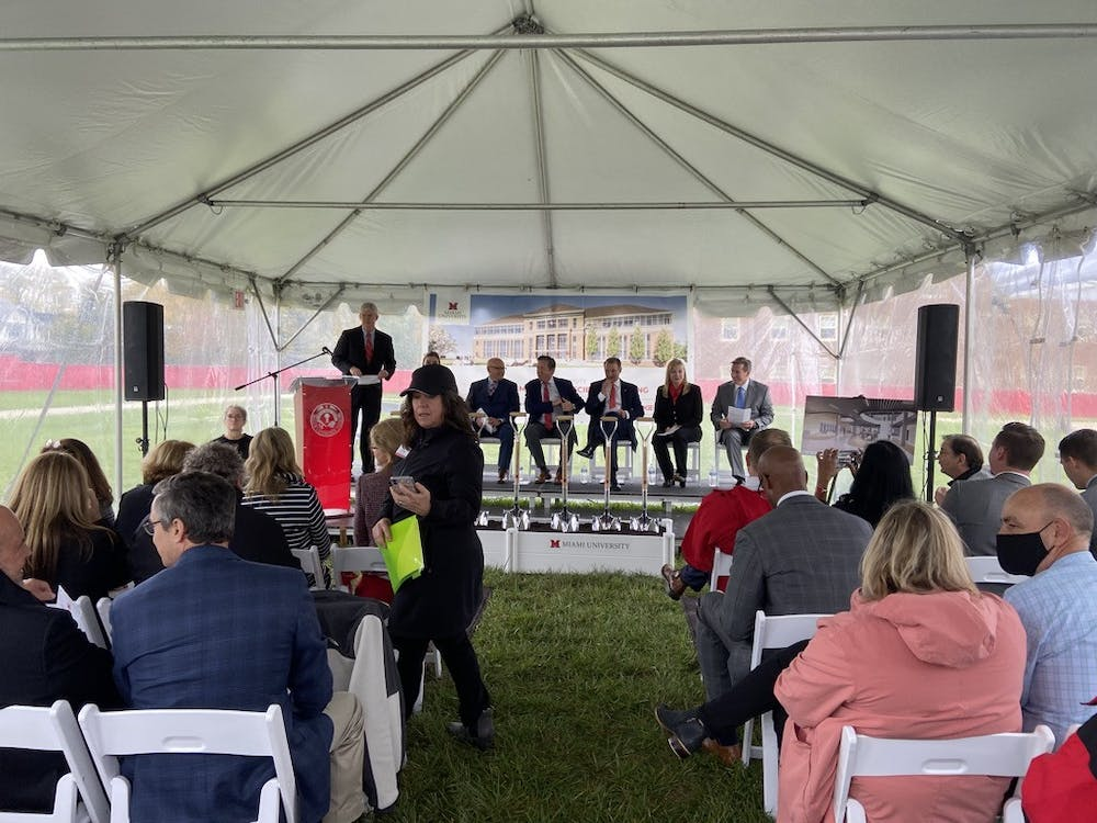 Miami held a ceremony celebrating the start of construction of the McVey data science building, which is expected to be completed in 2024.