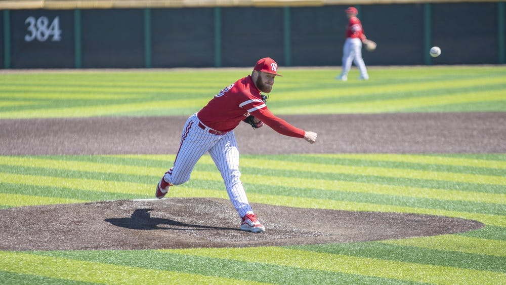 Junior pitcher Sam Bachman might be selected in the first round of the MLB draft this July
