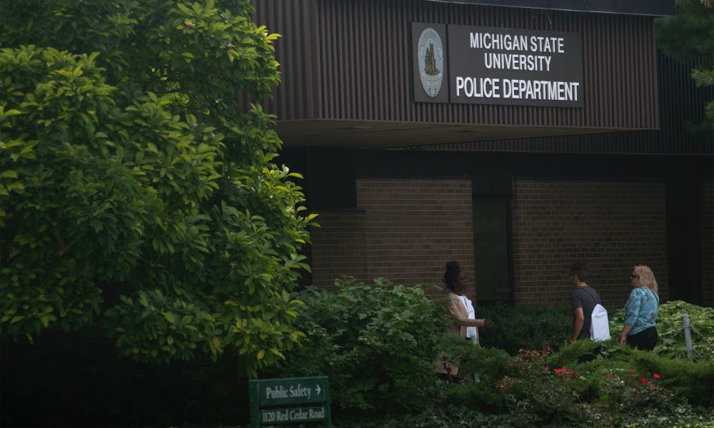 <p>Michigan State University Police Department on Aug. 29, 2015. Courtney Kendler/The State News</p>