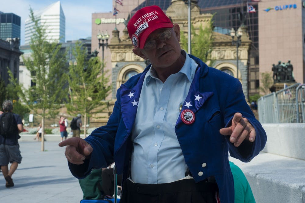 Stoney Burke poses for a photo on July 18, 2016 at Public Square in Cleveland, Ohio.