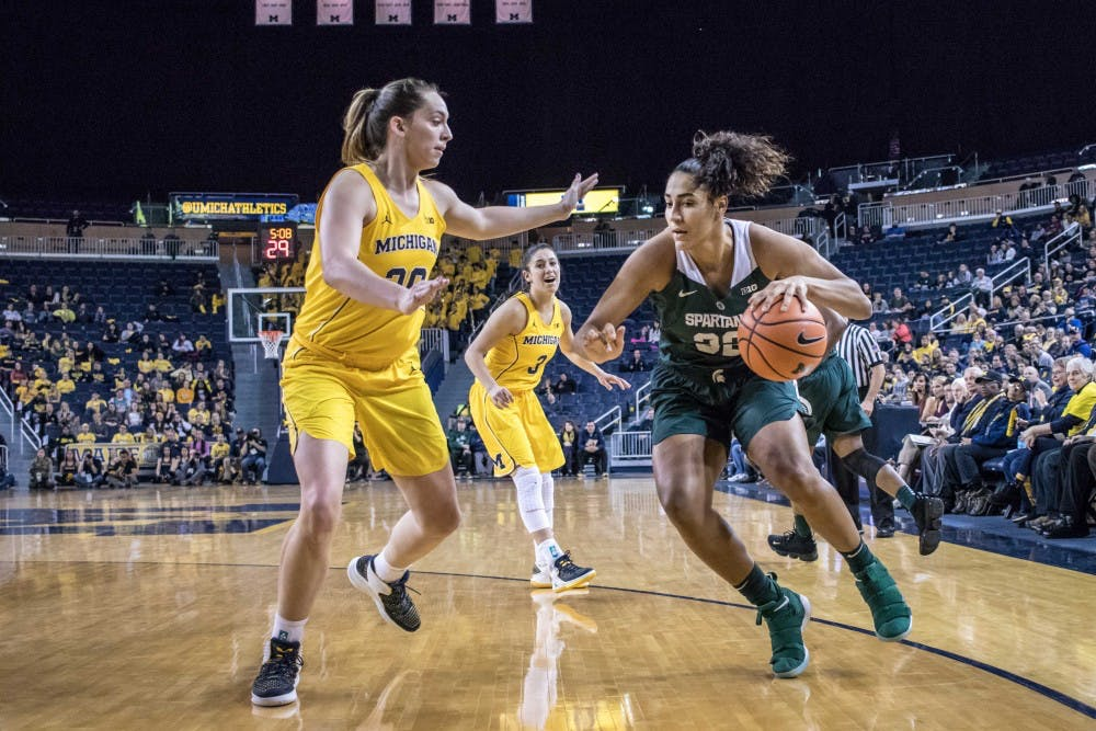 a91e15f8cb1ba FINAL  Women s basketball gets crushed by Wolverines in Ann Arbor - The  State News