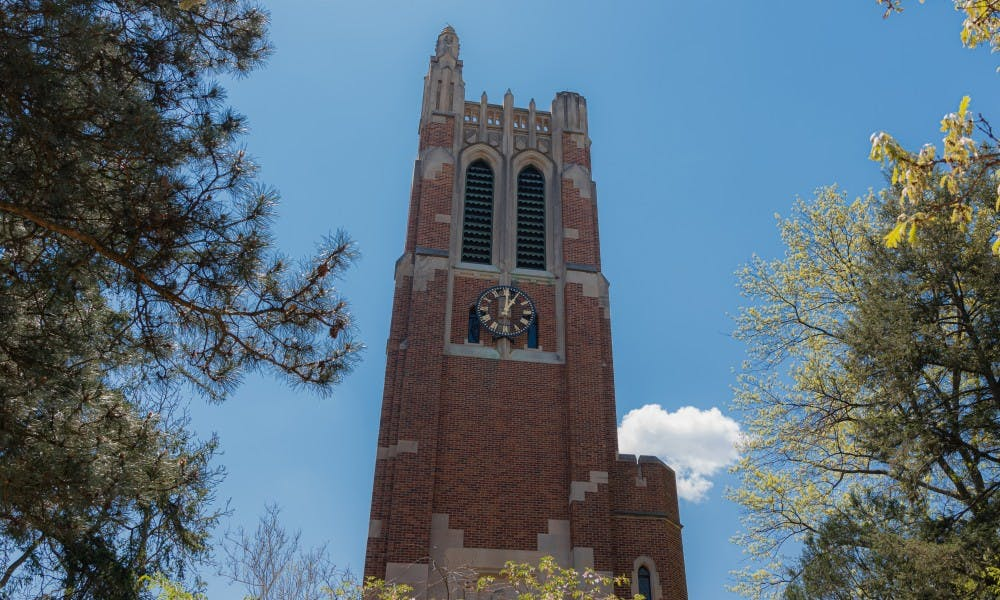 <p>Beaumont Tower photographed May 15, 2019.</p>