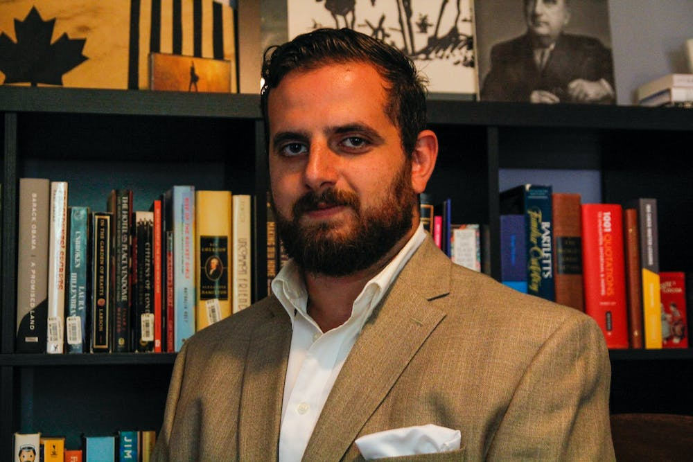 <p>East Lansing City Council Candidate Mikey Manuel.</p>