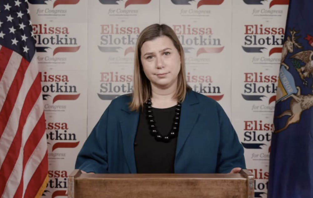 <p>U.S. Rep. Elissa Slotkin was live from Holly, MI to voice her confidence in reelection on Nov. 4, 2020.</p>