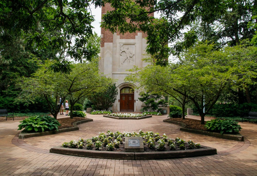 <p>The Beaumont Tower courtyard serves as another place to enjoy the greenery and aesthetics of campus while you study, meet with family and friends, or just take a break from the hustle and bustle of campus life.&nbsp;</p>