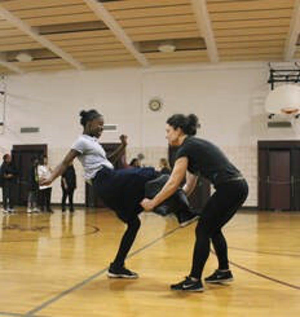 <p>Self-defense seminar Dec. 14, 2018, at C.B. Sabbath Middle School in River Rouge, Michigan. </p><p></p><p>Photo Credit: The Stand Tall Project</p>