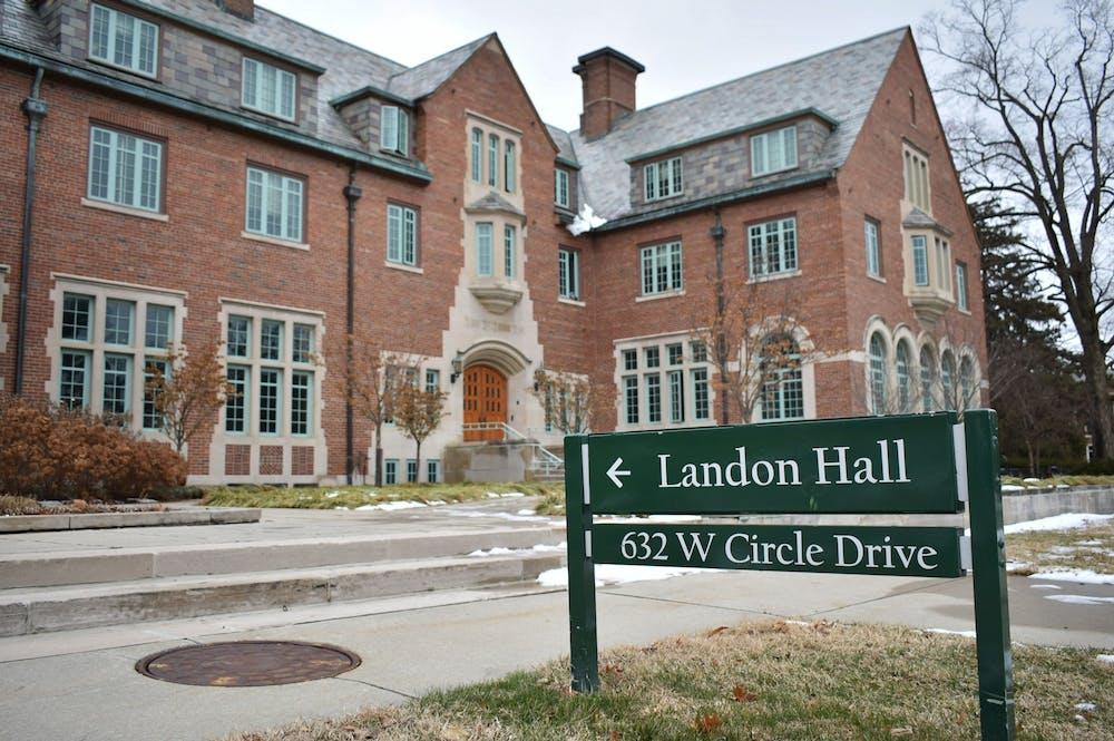 <p>Landon Hall photographed on Jan. 27, 2020. </p>