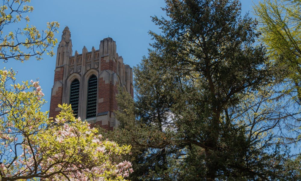 <p>Beaumont Tower photographed on May 15, 2019.</p>