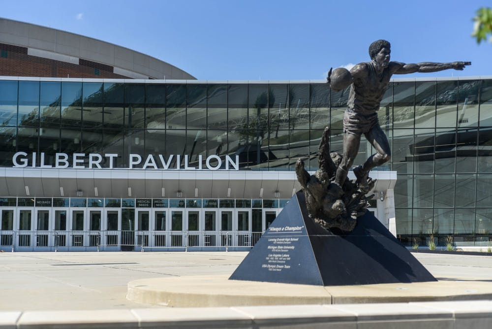 <p>The Gilbert Pavilion of the Breslin Center on July 17, 2020.</p>