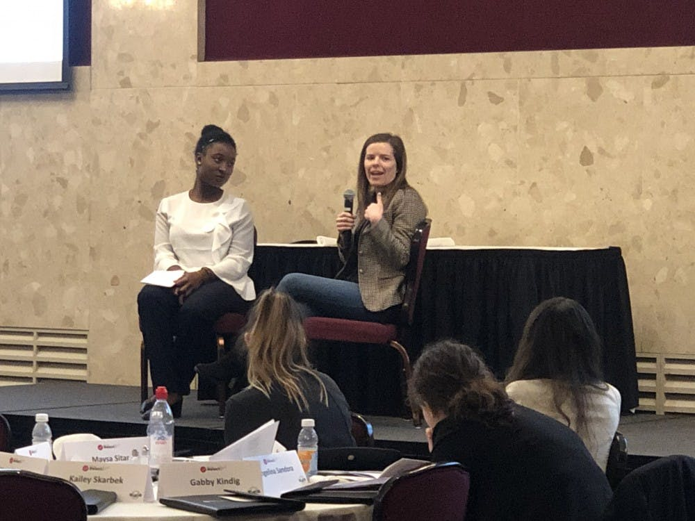 <p>Recently elected MSU Trustee Kelly Tebay was one of the three notable guest speakers at the ElectHer seminar, and was interviewed by co-facilitator of the event Ewurama Appiagyei-Dankah, an MSU alumna.&nbsp;</p>