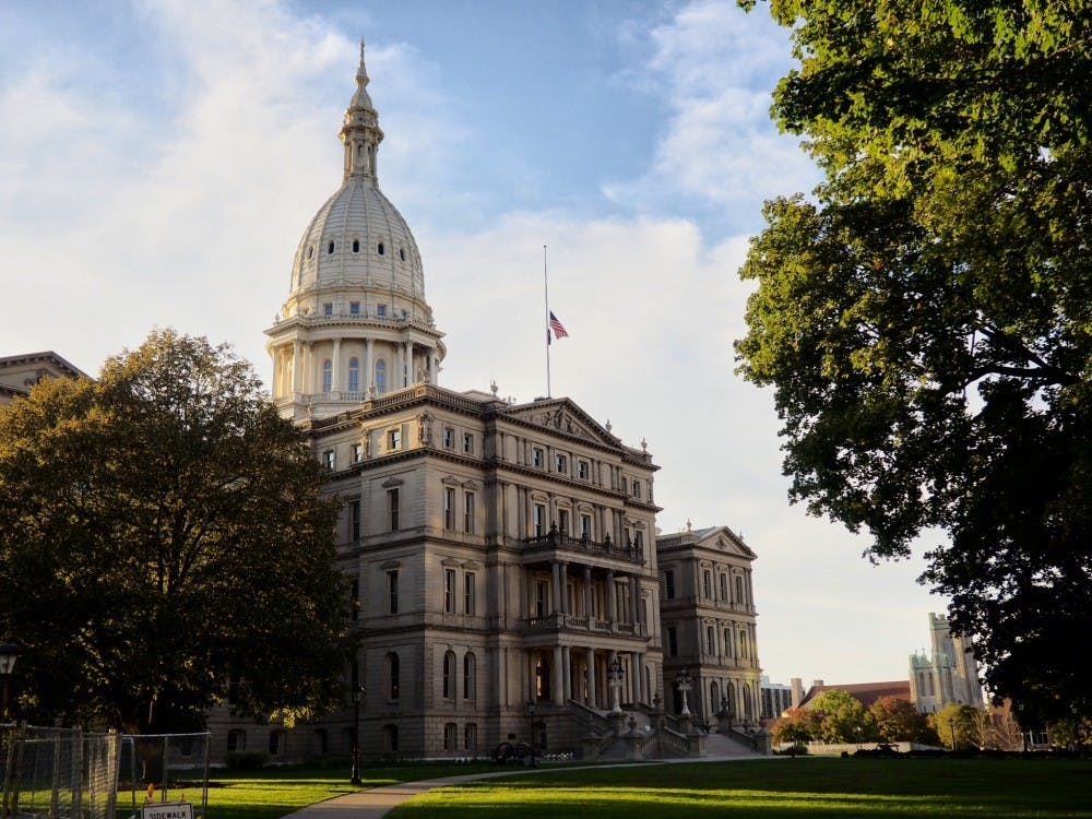 <p>Lansing Capitol building on Sept. 19, 2019. </p>