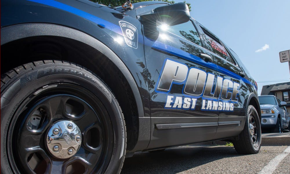 <p>An East Lansing police car, photographed on Aug. 23, 2019. </p>