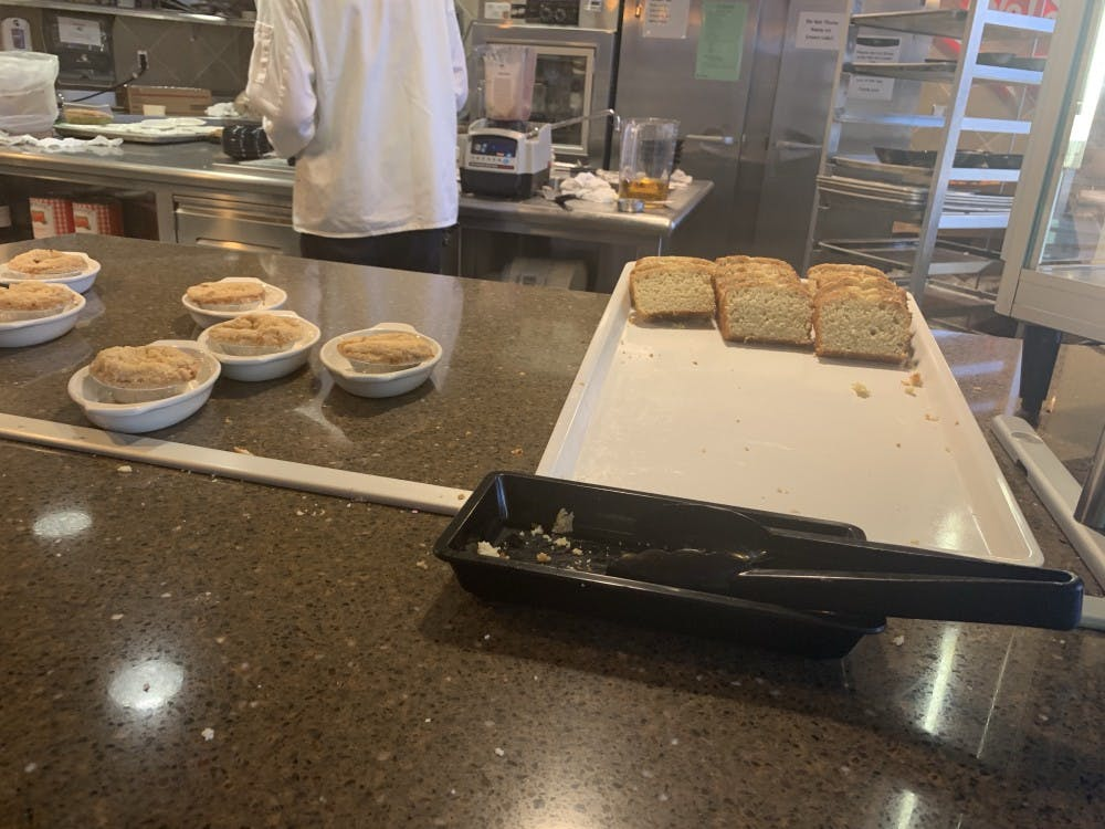 """The dessert menu, titled """"Going Bananas,"""" was put together by long-time dining hall employee Chemistry senior Benjamin Roggenbuck. It featured banana-flavored treats."""